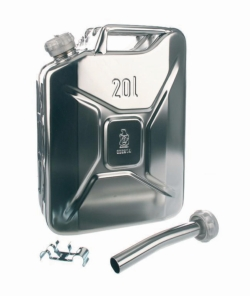 Stainless steel jerrycan